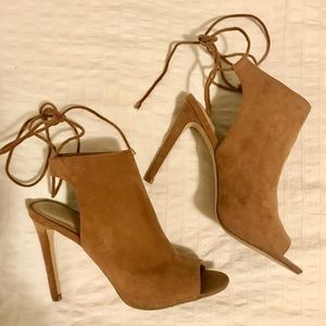 Aldo suede open-toe heels